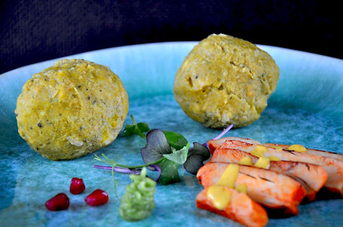 Erbsen-Curry-Knödel FingerFood